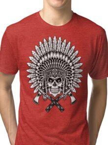 indian (skull) Tri-blend T-Shirt