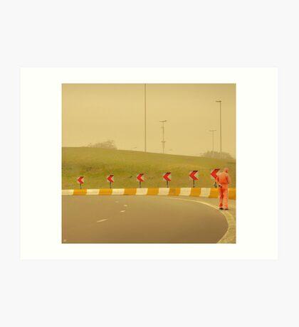 Belgium Highway Man Art Print