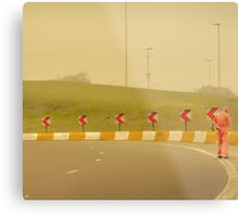 Belgium Highway Man Metal Print