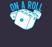 On a roll! lucky dice in blue Unisex T-Shirt