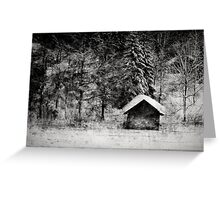 Hut at a lake Greeting Card
