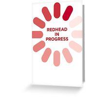 redhead v1 Greeting Card
