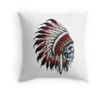 indian (skull) Throw Pillow