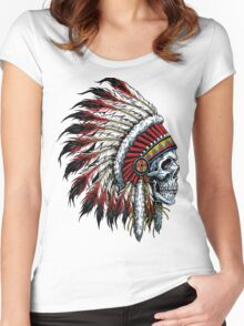 indian (skull) Women's Fitted Scoop T-Shirt