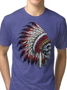 indian (skull) Tri-blend T-Shirt