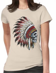indian (skull) Womens Fitted T-Shirt