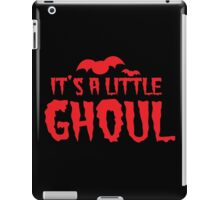 It's a little GHOUL - Halloween pregnant Girl announcement iPad Case/Skin