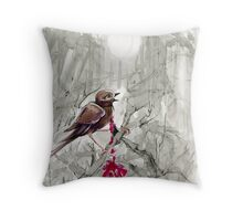 the Nightingale and the Rose 4 Throw Pillow