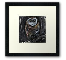Upright Owl Framed Print