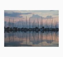 Pastel Sailboats Reflections at Dusk T-Shirt