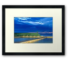 Newcastle Ocean Baths Sunrise Framed Print