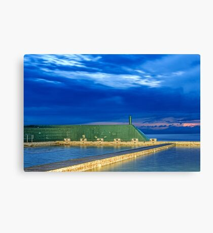 Newcastle Ocean Baths Sunrise Canvas Print