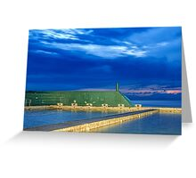 Newcastle Ocean Baths Sunrise Greeting Card