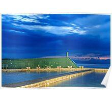Newcastle Ocean Baths Sunrise Poster