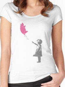 Pigballoon Women's Fitted Scoop T-Shirt