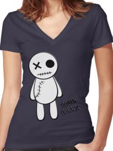 death doll X Women's Fitted V-Neck T-Shirt