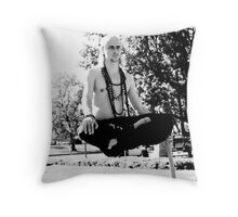 Levitating man (Outside of the White House) Throw Pillow