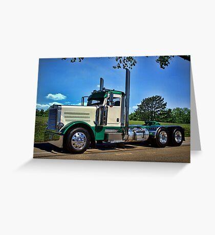 Peterbilt Semi Truck Greeting Card