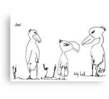 Clever Dicky Bird Canvas Print