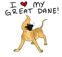 Great Dane Lover Photographic Print