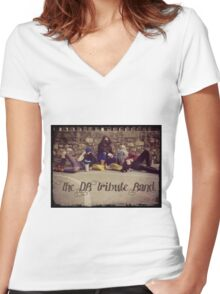 The DB Tribute Band Women's Fitted V-Neck T-Shirt