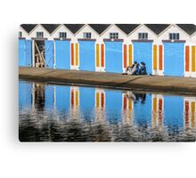Relaxing at the Boat Sheds Canvas Print