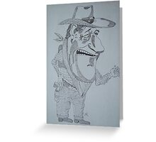 The cowboy Greeting Card
