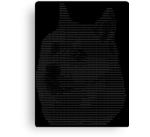 ASCII Doge Canvas Print