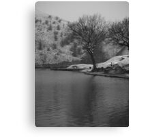 cold day fishing Canvas Print