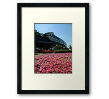 Monorail Epcot Framed Print