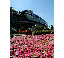 Monorail Epcot Photographic Print