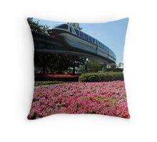 Monorail Epcot Throw Pillow