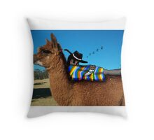 Sleeping Alpaca Gaucho Throw Pillow