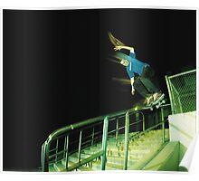 Psychadelic Night Skateboarding Poster
