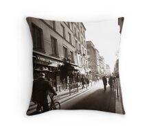 Rue Mouffetard Throw Pillow