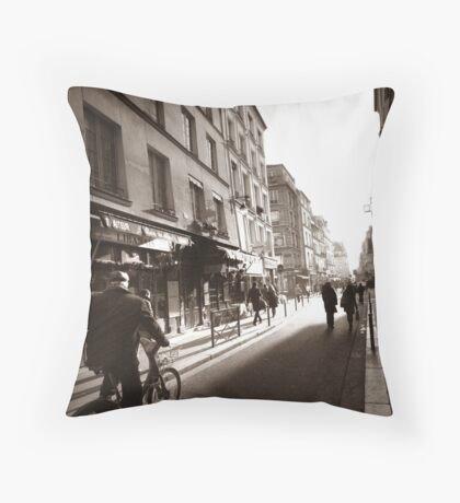 Rue Mouffetard Throw Pillow