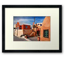 Foinikia village - Santorini island Framed Print
