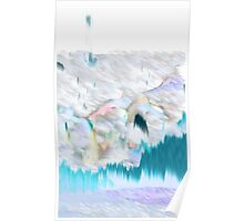Blue Electric Landscape Poster