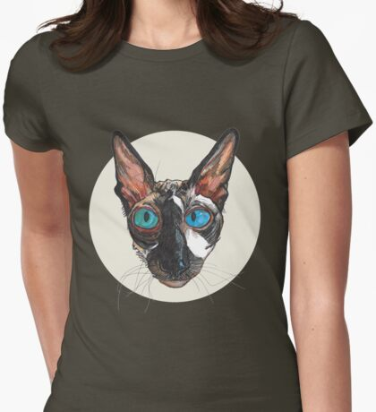 Ludenben the Cornish Rex Womens Fitted T-Shirt