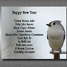 Happy New Year Multilingual Greeting by Bonnie T.  Barry