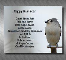 Happy New Year Multilingual Greeting by Bonnie T.  Barry