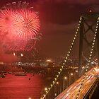 Bay Bridge Fireworks by Can Balcioglu