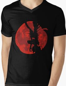 Apple Moon Mens V-Neck T-Shirt