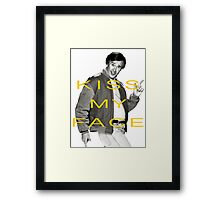 KISS MY FACE Framed Print