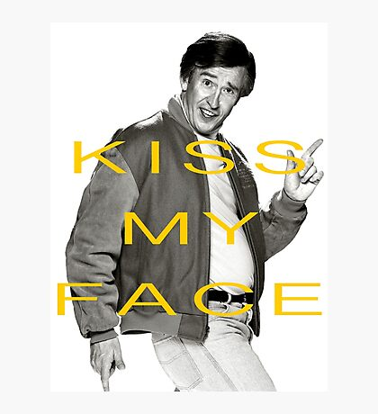 KISS MY FACE Photographic Print