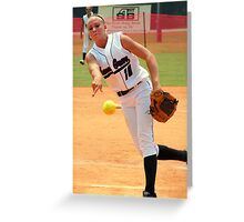 Fast Pitch Greeting Card