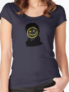 Sherlock Smiley Face Women's Fitted Scoop T-Shirt