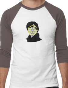 Sherlock Smiley Face Men's Baseball ¾ T-Shirt