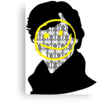 Sherlock Smiley Face Canvas Print