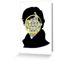 Sherlock Smiley Face Greeting Card